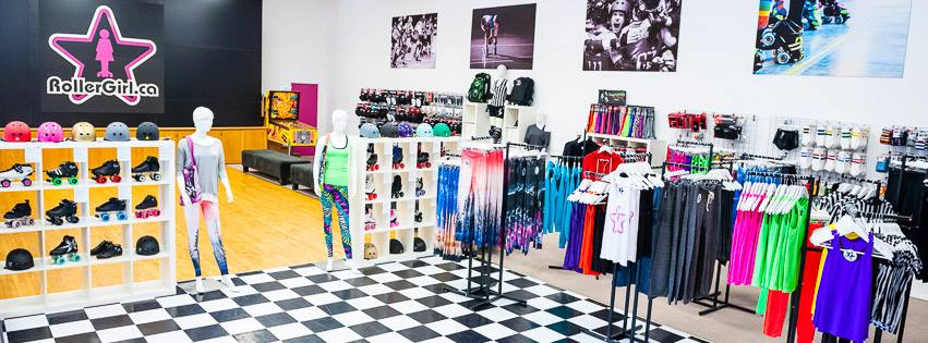 The RollerGirl.ca store in Vancouver